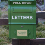 Just Moved Ministry mailbox