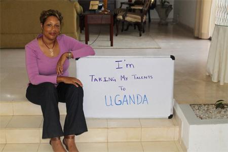 Sharoya is going to Uganda