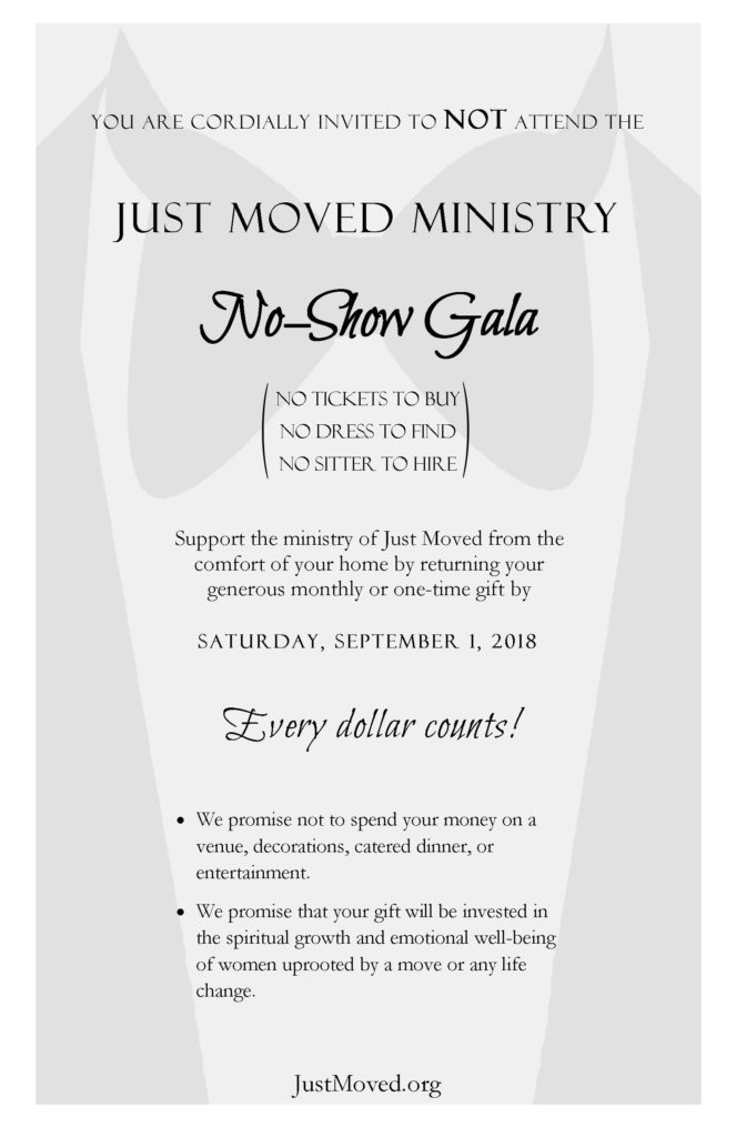 Donate to Just Moved Ministry