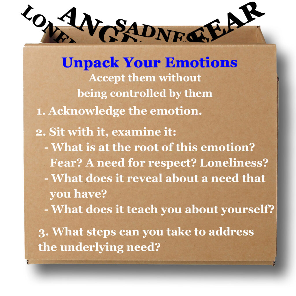 unpack your emotions