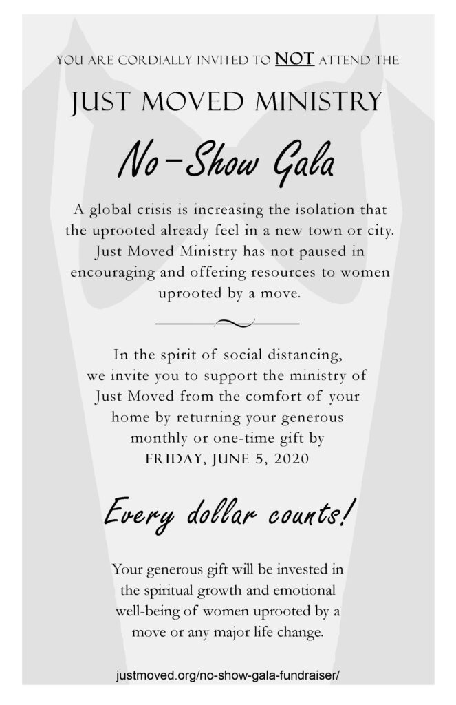 No-Show Gala fundraiser for Just Moved Ministry