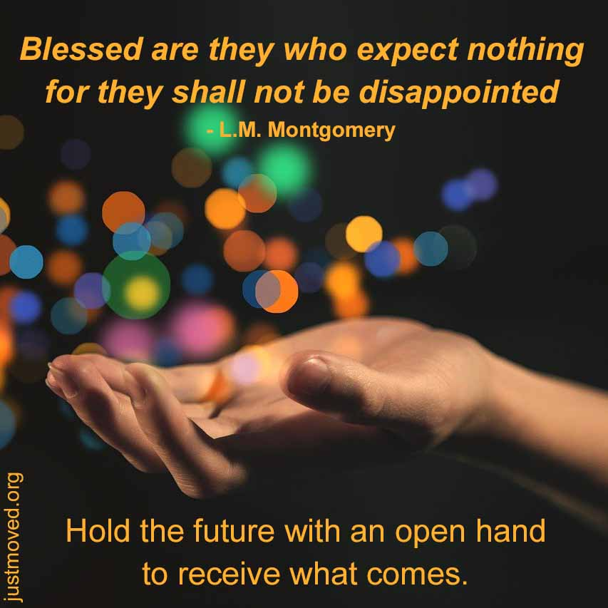 hold the future with an open hand